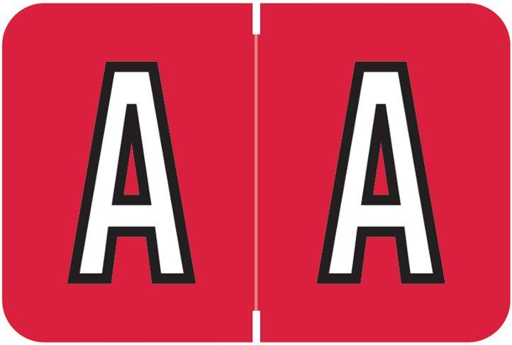 Barkley FABKM Match BRAM Series Alpha Roll Labels - Letter A - Red Label