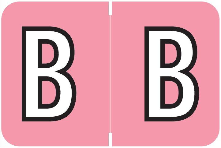 Barkley FABKM Match BRAM Series Alpha Roll Labels - Letter B - Pink Label