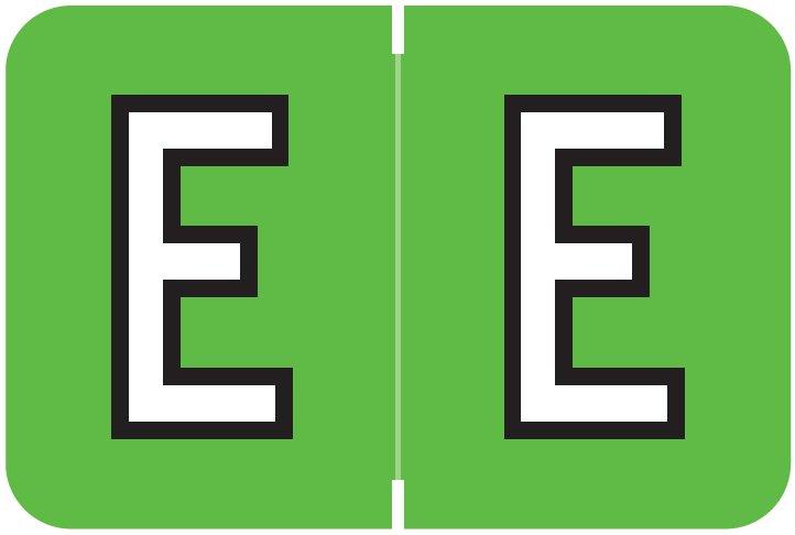 Barkley FABKM Match BRAM Series Alpha Roll Labels - Letter E - Light Green Label