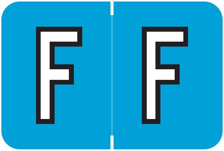 Barkley FABKM Match BRAM Series Alpha Roll Labels - Letter F - Blue Label