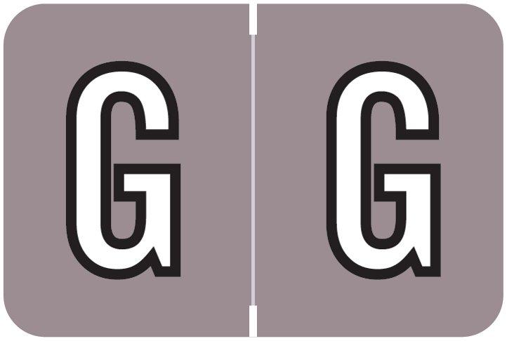 Barkley FABKM Match BRAM Series Alpha Roll Labels - Letter G - Lavender Label