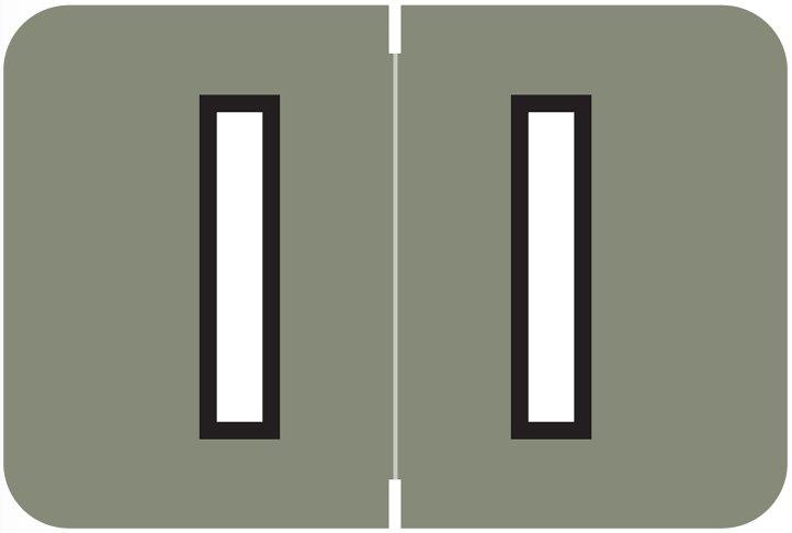Barkley FABKM Match BRAM Series Alpha Roll Labels - Letter I - Gray Label