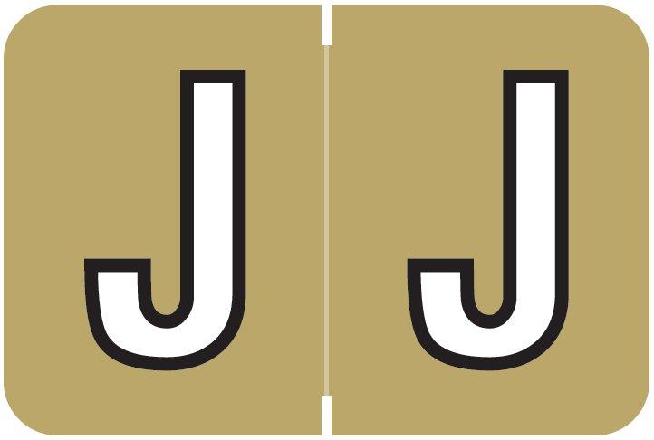 Barkley FABKM Match BRAM Series Alpha Roll Labels - Letter J - Gold Label