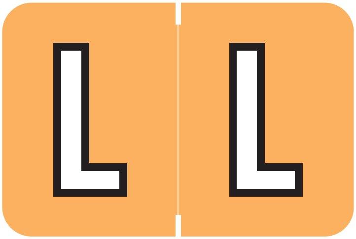 Barkley FABKM Match BRAM Series Alpha Roll Labels - Letter L - Light Orange Label