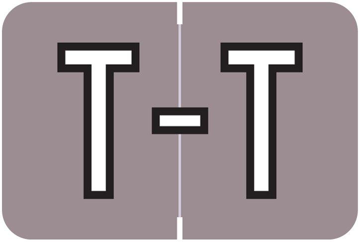 Barkley FABKM Match BRAM Series Alpha Roll Labels - Letter T - Lavender Label