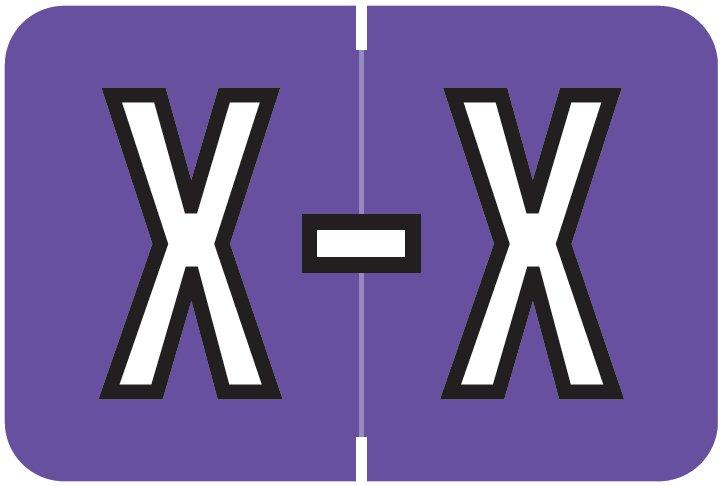 Barkley FABKM Match BRAM Series Alpha Roll Labels - Letter X - Purple Label