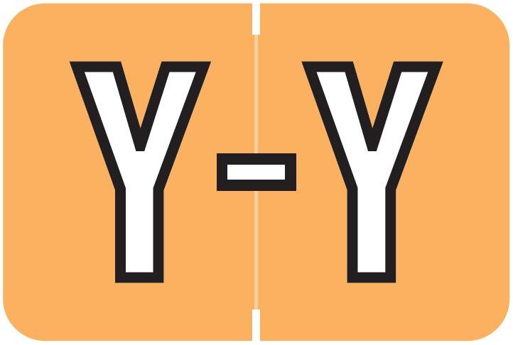 Barkley FABKM Match BRAM Series Alpha Roll Labels - Letter Y - Light Orange Label
