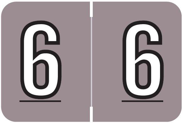 Barkley FNBKM Match BRNM Series Numeric Roll Labels - Number 6 - Lavender