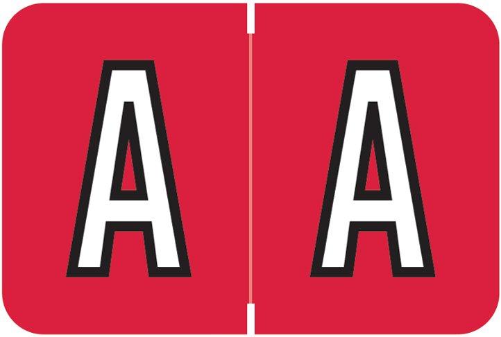 Barkley FABKM Match BRPK Series Alpha Sheet Labels - Letter A - Red Label
