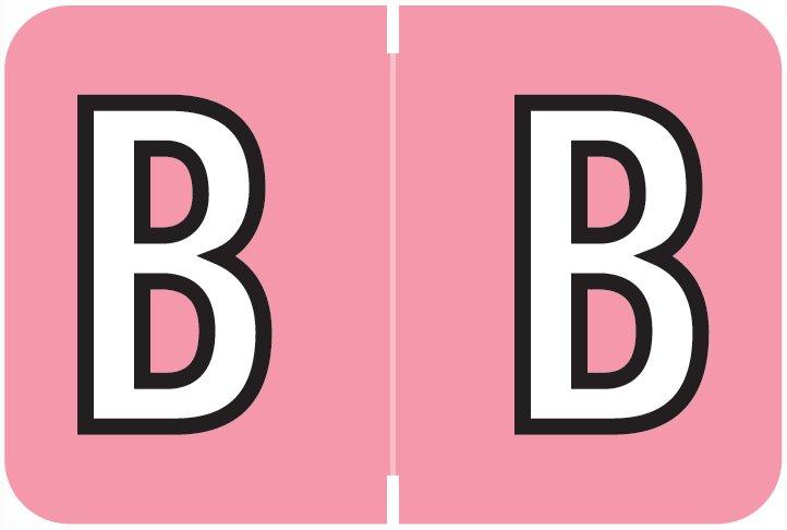 Barkley FABKM Match BRPK Series Alpha Sheet Labels - Letter B - Pink Label