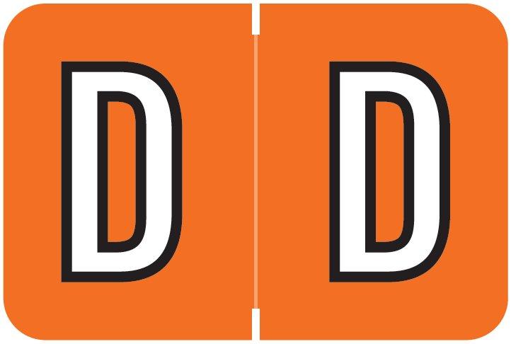 Barkley FABKM Match BRPK Series Alpha Sheet Labels - Letter D - Dark Orange Label