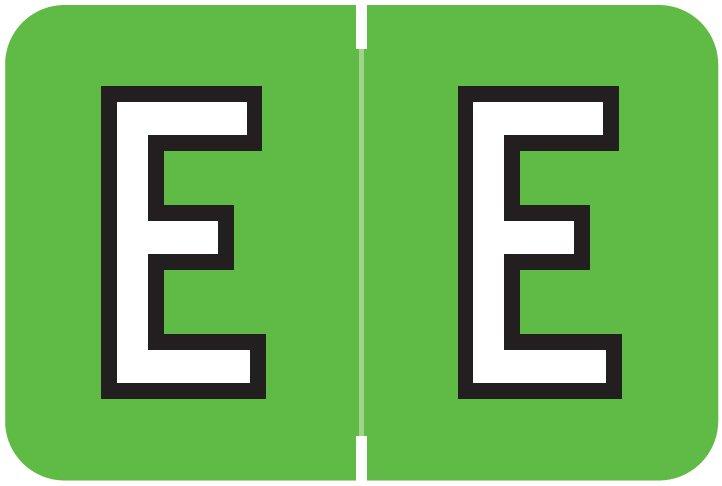 Barkley FABKM Match BRPK Series Alpha Sheet Labels - Letter E - Light Green Label