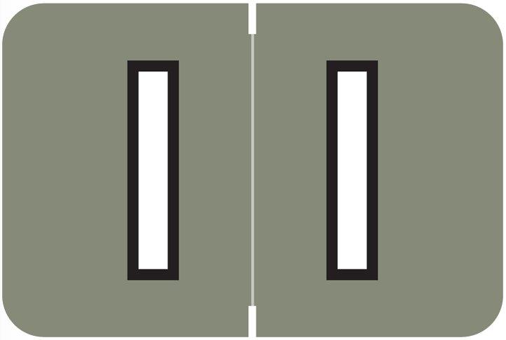 Barkley FABKM Match BRPK Series Alpha Sheet Labels - Letter I - Gray Label