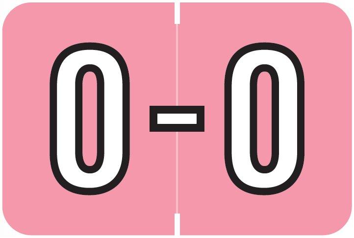 Barkley FABKM Match BRPK Series Alpha Sheet Labels - Letter O - Pink Label