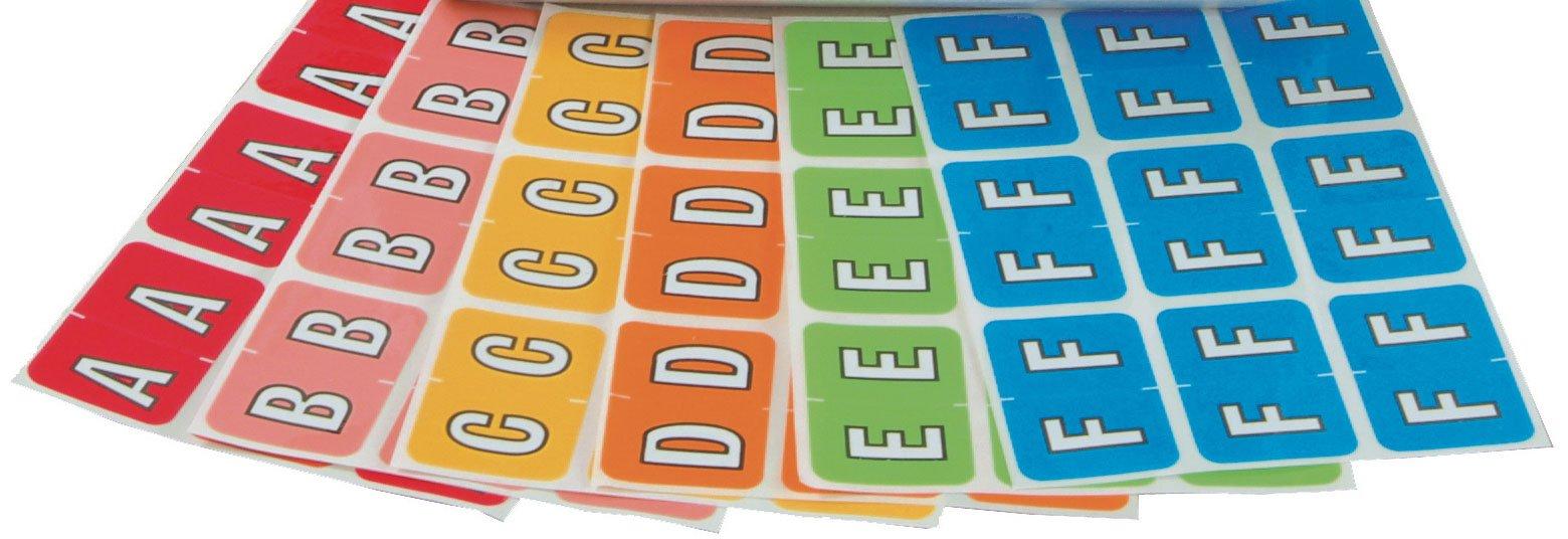 Barkley FABKM Match BRPK Series Alpha Sheet Labels - Desk Set Refill Pack