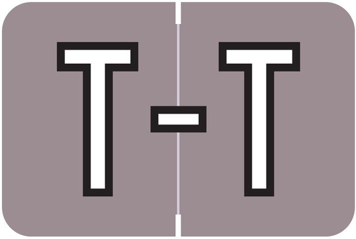 Barkley FABKM Match BRPK Series Alpha Sheet Labels - Letter T - Lavender Label