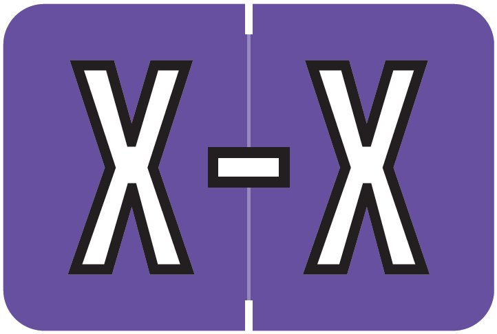 Barkley FABKM Match BRPK Series Alpha Sheet Labels - Letter X - Purple Label