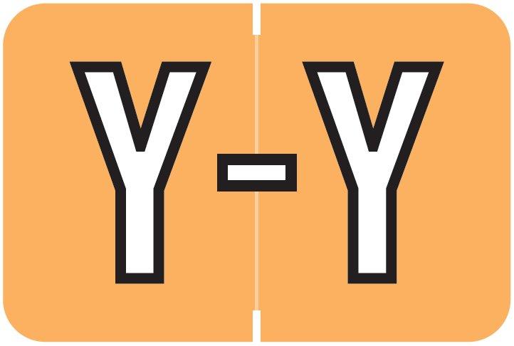 Barkley FABKM Match BRPK Series Alpha Sheet Labels - Letter Y - Light Orange Label