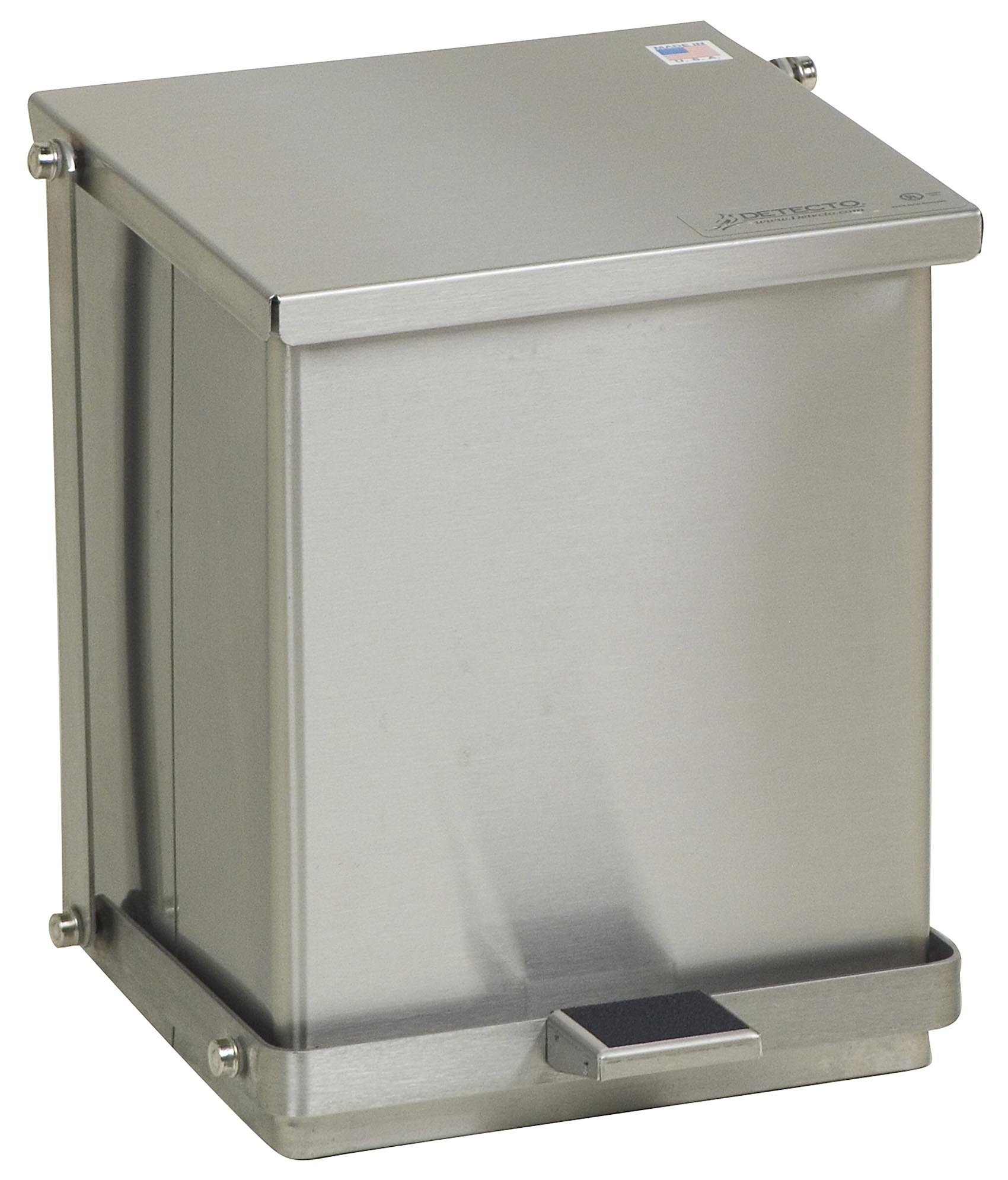 Stainless Steel Step-On Can - 16 Qt