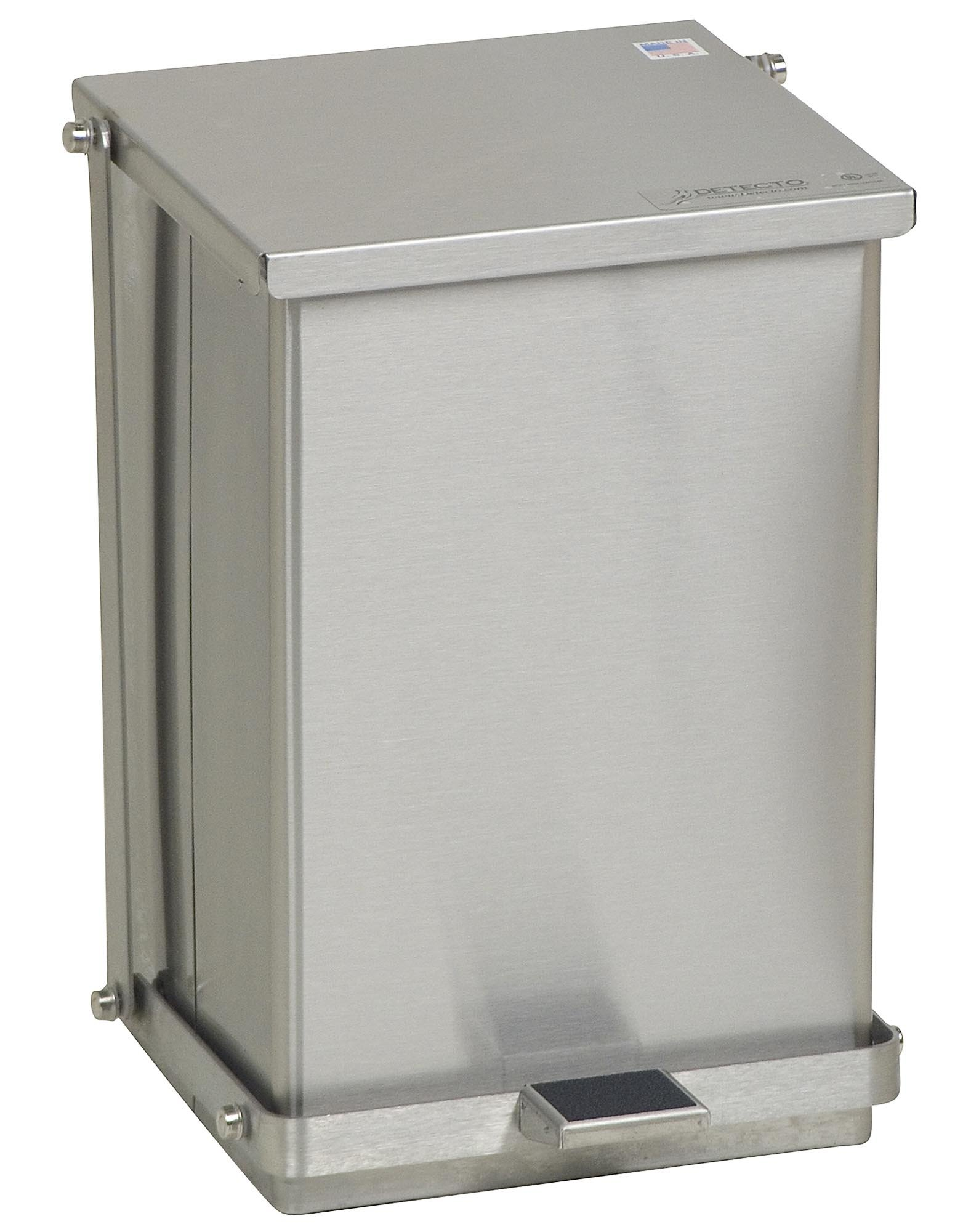 Stainless Steel Step-On Can - 24 Qt