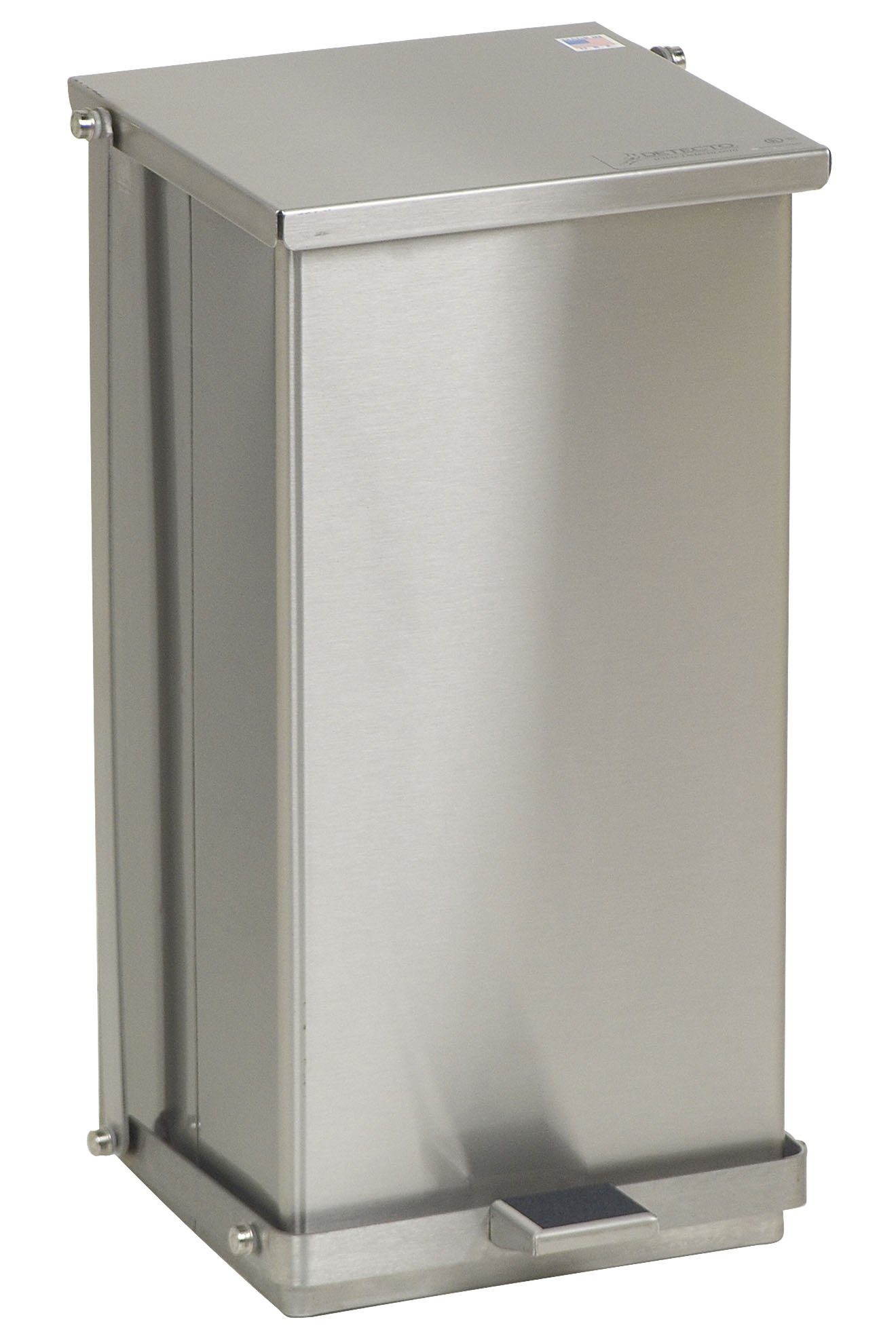 Stainless Steel Step-On Can - 32 Qt