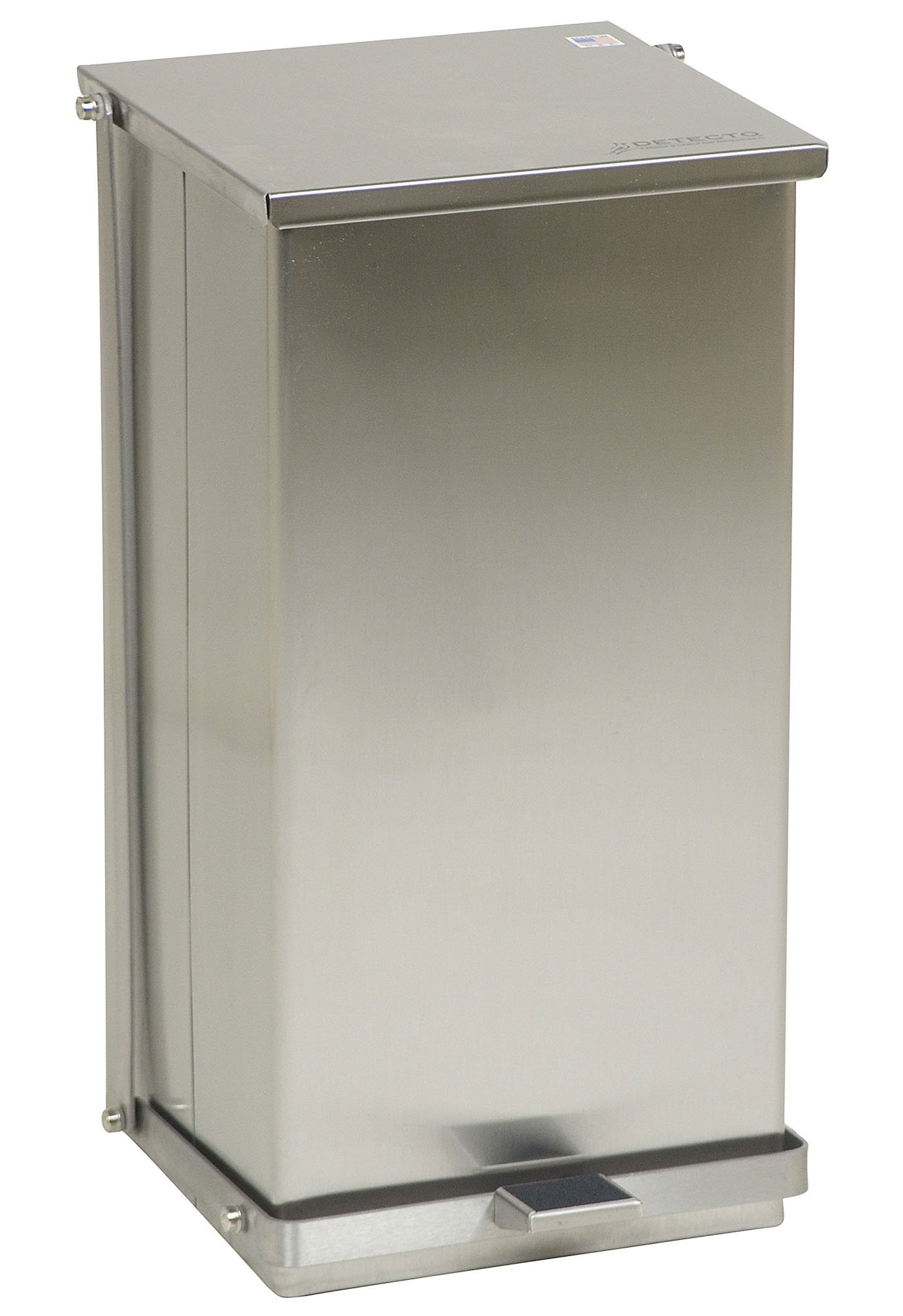 Stainless Steel Step-On Can - 48 Qt