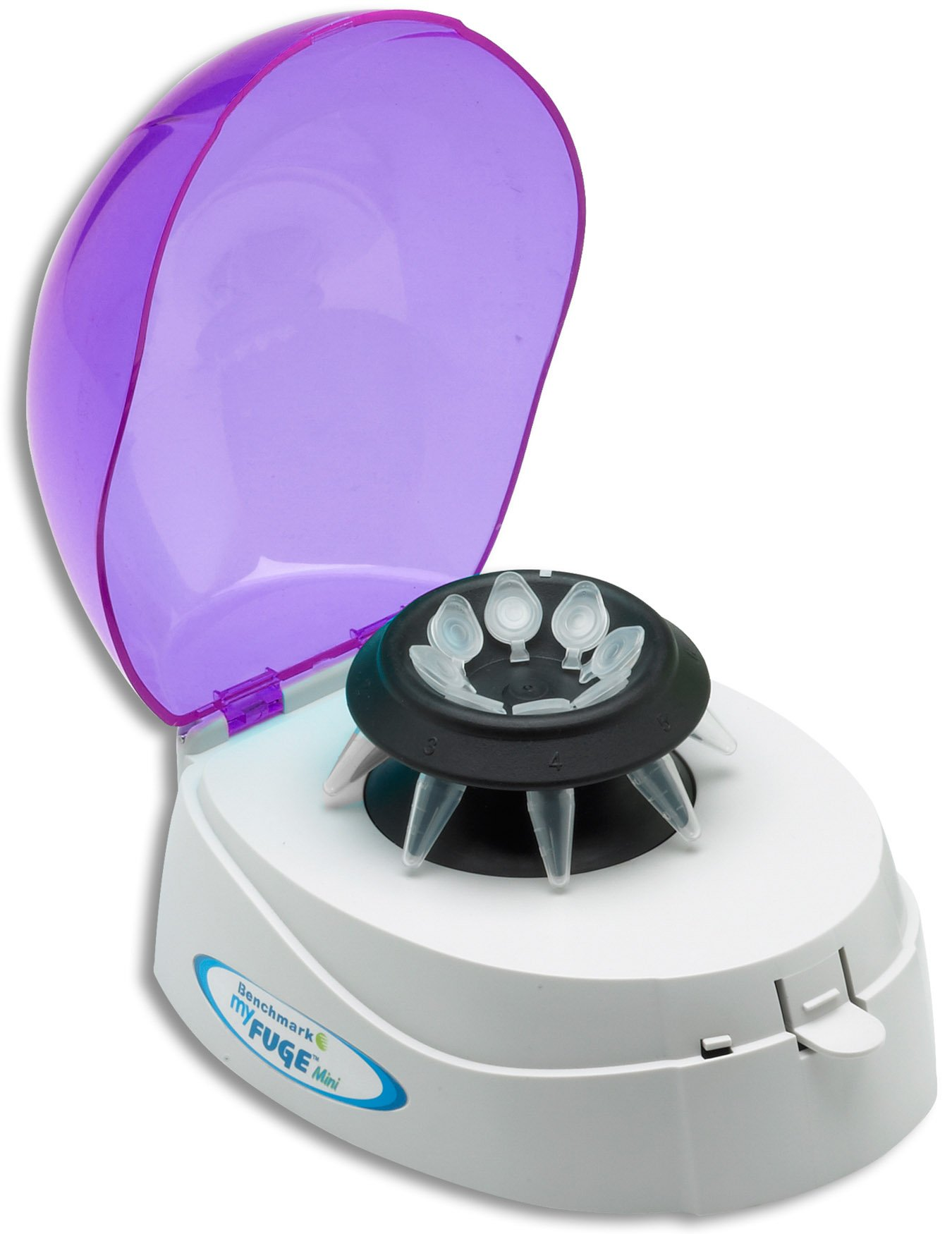 MyFuge Mini MicroCentrifuge With Two Rotors For 1.5ml-2.0ml Tubes & 0.2ml PCR Tubes - Purple Lid