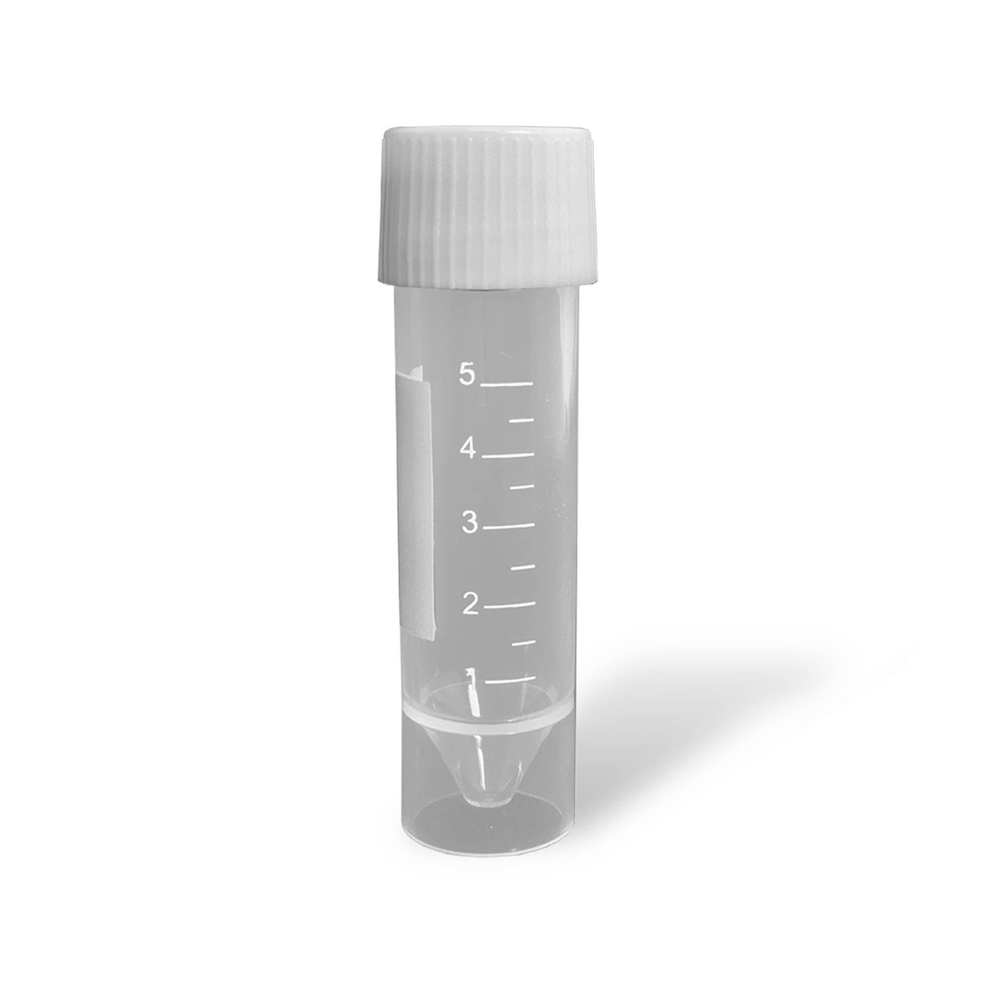 5mL Transport Tubes with Attached Screw Cap - Sterile