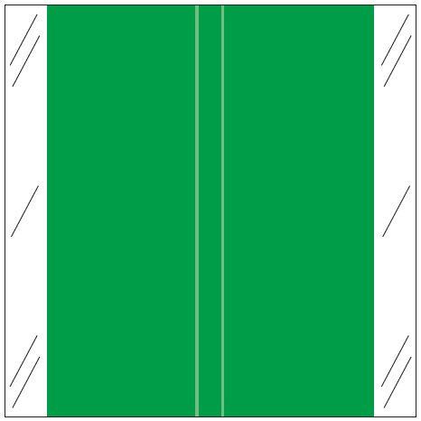 Tabbies 11600 Match CLLM Series Solid Color Roll Labels - Dark Green