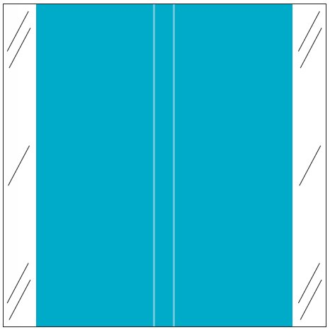 Tabbies 11600 Match CLLM Series Solid Color Roll Labels - Light Blue