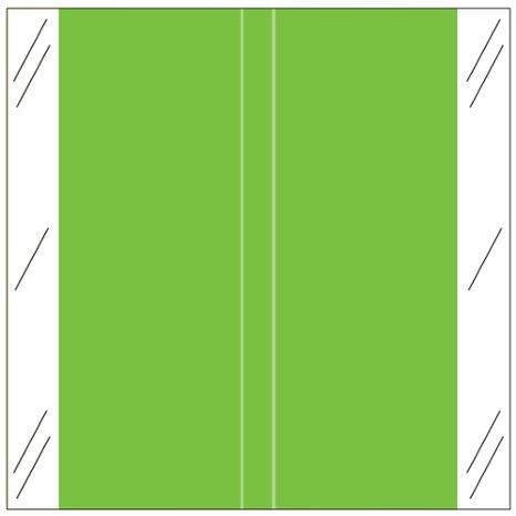 Tabbies 11600 Match CLLM Series Solid Color Roll Labels - Light Green