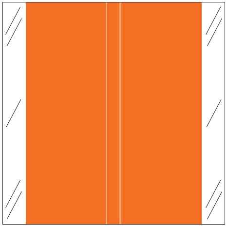 Tabbies 11600 Match CLLM Series Solid Color Roll Labels - Orange