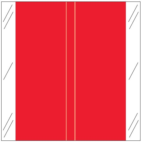 Tabbies 11600 Match CLLM Series Solid Color Roll Labels - Red