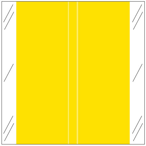 Tabbies 11600 Match CLLM Series Solid Color Roll Labels - Yellow