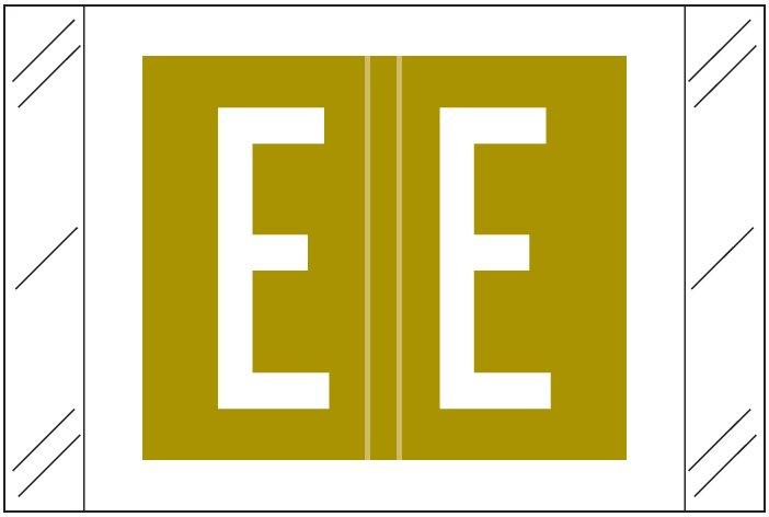 Tabbies 12000 Match CRAM Series Alpha Roll Labels - Letter E - Gold Label