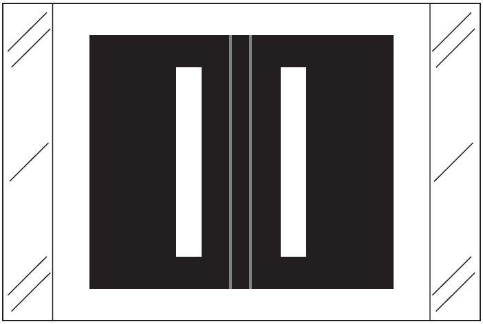 Tabbies 12000 Match CRAM Series Alpha Roll Labels - Letter I - Black Label