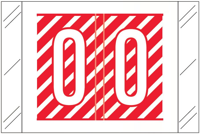 Tabbies 12000 Match CRAM Series Alpha Roll Labels - Letter O - Red and White Label