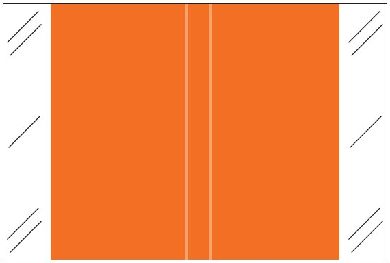 Tabbies 11100 Match CRLM Series Solid Color Roll Labels - Orange