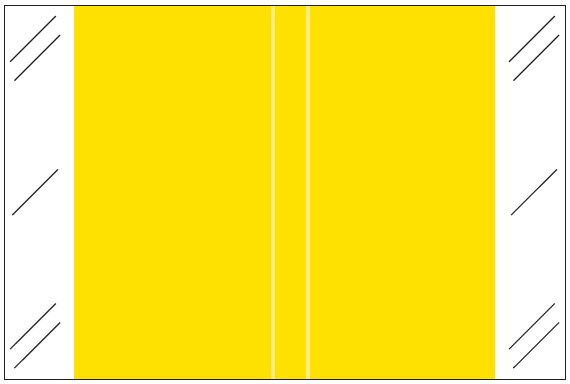 Tabbies 11100 Match CRLM Series Solid Color Roll Labels - Yellow