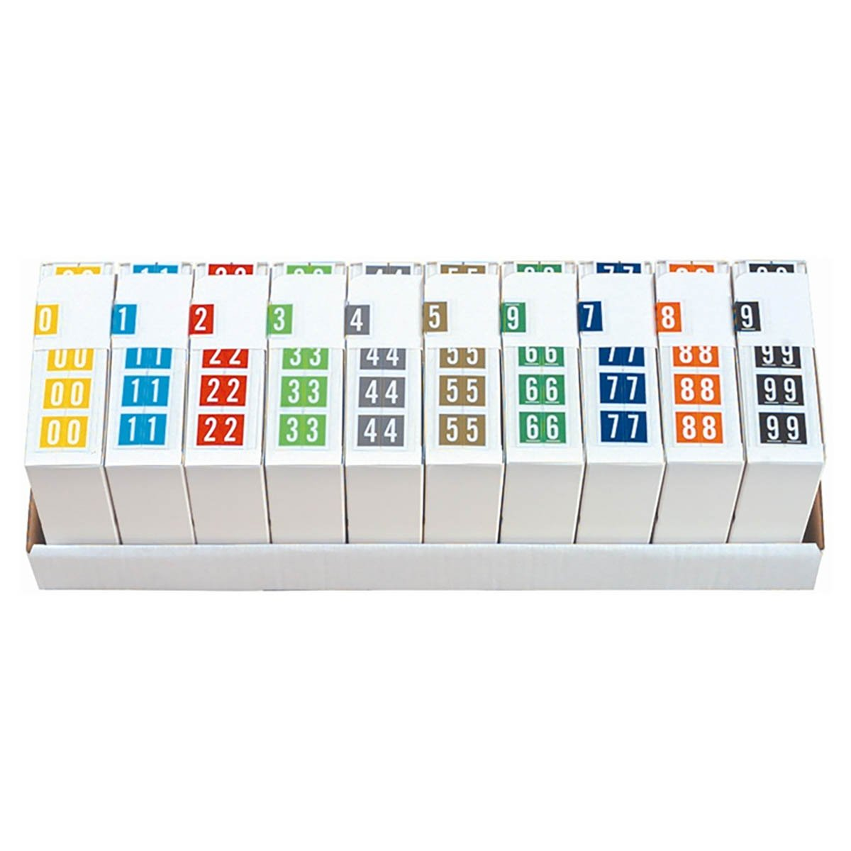 Tabbies 11000 Match CRNM Series Numeric Roll Labels - Set of Number 0 To 9