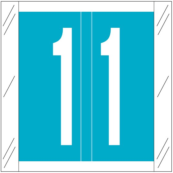 Barkley FNSRM Match CSNM Series Numeric Roll Labels - Number 1 - Light Blue