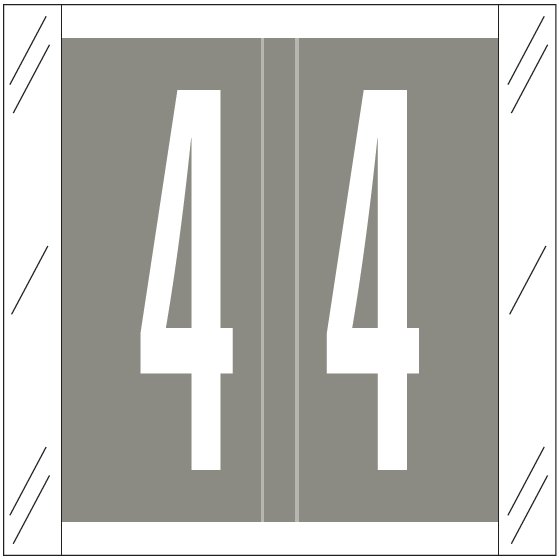 Barkley FNSRM Match CSNM Series Numeric Roll Labels - Number 4 - Gray