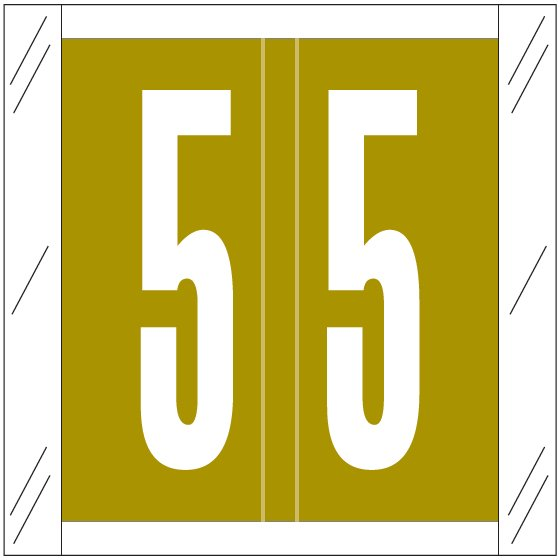 Barkley FNSRM Match CSNM Series Numeric Roll Labels - Number 5 - Gold
