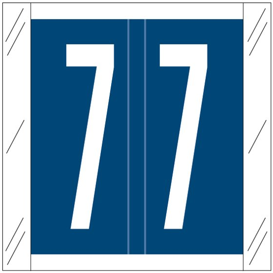 Barkley FNSRM Match CSNM Series Numeric Roll Labels - Number 7 - Dark Blue