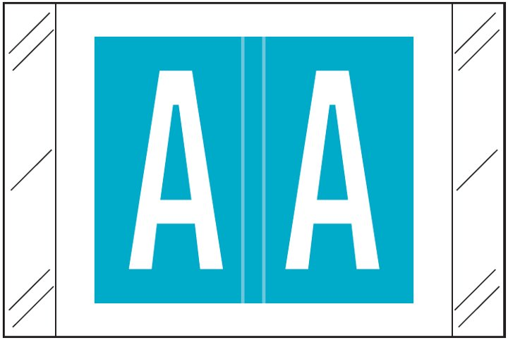 Barkley FASTM Match CTAM Series Alpha Roll Labels - Letter A - Light Blue Label