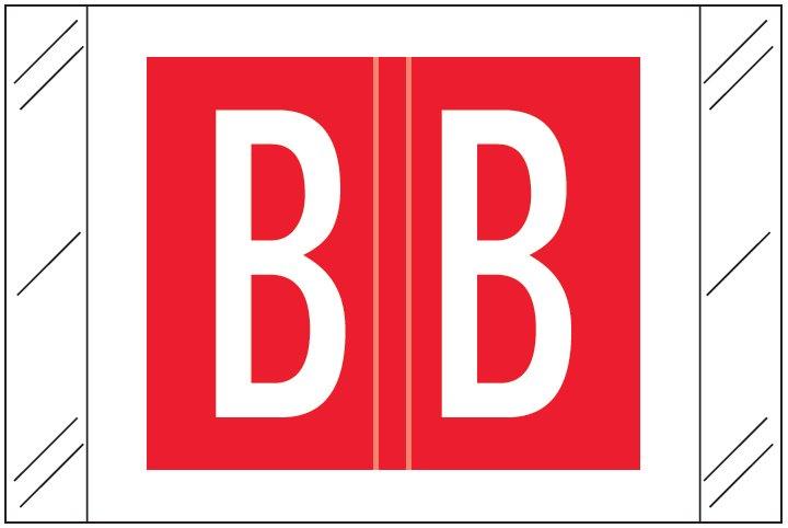 Barkley FASTM Match CTAM Series Alpha Roll Labels - Letter B - Red Label