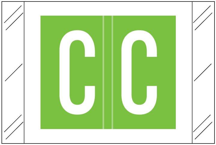 Barkley FASTM Match CTAM Series Alpha Roll Labels - Letter C - Light Green Label
