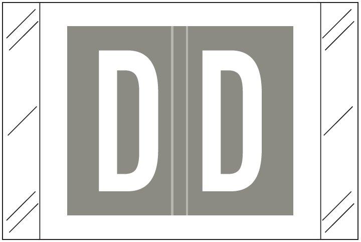 Barkley FASTM Match CTAM Series Alpha Roll Labels - Letter D - Gray Label