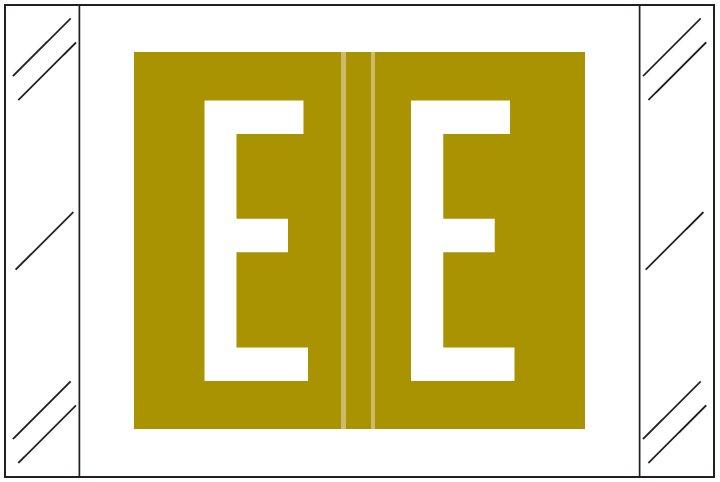 Barkley FASTM Match CTAM Series Alpha Roll Labels - Letter E - Gold Label