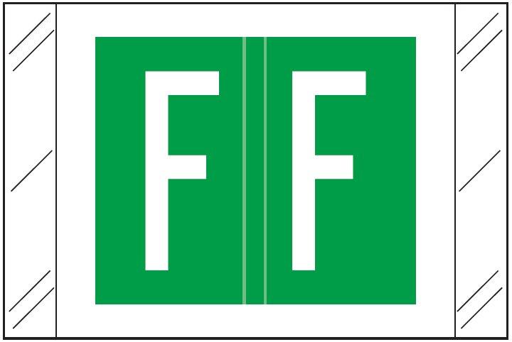 Barkley FASTM Match CTAM Series Alpha Roll Labels - Letter F - Dark Green Label